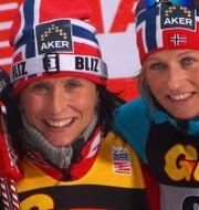 Marit Bjørgen och Vibeke Skofterud 2011.  THOMAS BACHUN / GEPA PICTURES
