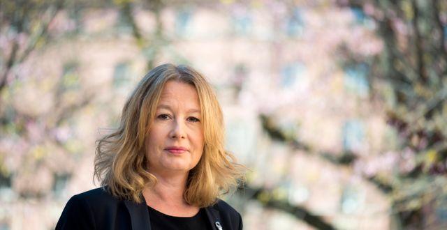 Åsa Linderborg. Pontus Lundahl/TT / TT NYHETSBYRÅN
