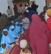 Barn från en muslimsk skola i Mina i Nigeria.  AP Photo / TT NYHETSBYRÅN