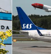 Attunda tingsrätt/flygplan på Arlanda. TT