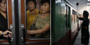Pendlande kvinnor i Nordkorea, arkivbild. TT