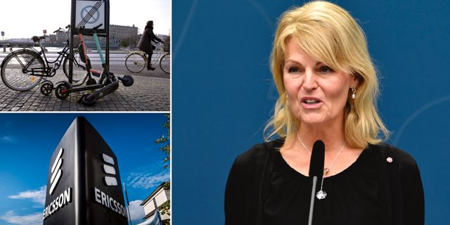Handelsminister Anna Hallberg (S). TT