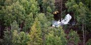 Resterna av flygplanet dagen efter den flygolyckan Erik Abel/TT / TT NYHETSBYRÅN