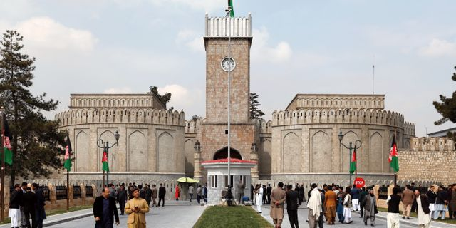 Presidentpalatset i Kabul. MOHAMMAD ISMAIL / TT NYHETSBYRÅN