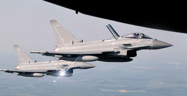 Eurofighter Typhoon. Vadim Ghirda / TT NYHETSBYRÅN