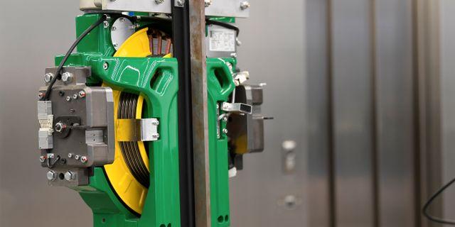 Arkivbild: En hissmotor mid Kones anläggning i Tyskland. Fabian Bimmer / TT NYHETSBYRÅN
