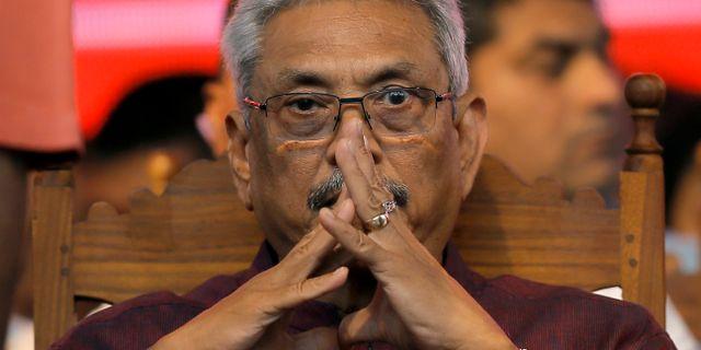 Gotabaya Rajapaksa, favorittippad i Sri Lankas presidentval. DINUKA LIYANAWATTE / TT NYHETSBYRÅN
