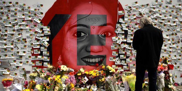 Minnesvägg för Savita Halappanavar i Dublin. CLODAGH KILCOYNE / TT NYHETSBYRÅN