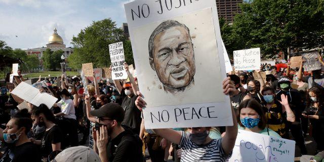 Demonstrationer efter Floyds död. Steven Senne / TT NYHETSBYRÅN