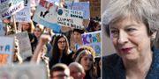 Demonstration i London/Theresa May. TT