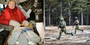 Arkivbild på Gunvor Lundin vid Jokkmoks julmarknad 2008/Försvarsmakten. TT