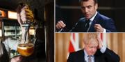 Macron hotade Johnson på telefon – sedan stängde pubarna i Storbritannien. TT