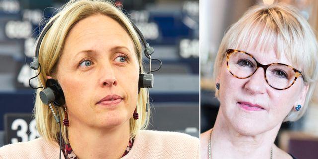 Jytte Guteland och Margot Wallström. TT