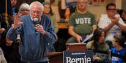 Sanders på ett valmöte i New Hampshire idag. BRIAN SNYDER / TT NYHETSBYRÅN