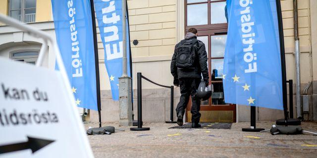 Förtidsröstning på Börshuset i Göteborg. Björn Larsson Rosvall/TT / TT NYHETSBYRÅN