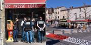 Brottsplatsen i Romans-sur-Isere. TT