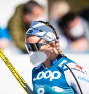 Linn Svahn efter VM-semifinalen. JOHANNA LUNDBERG / BILDBYRÅN