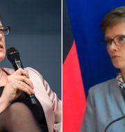 ECB-ledamoten Isabel Schnabel och vice-chefen Claudia Buch  Michel Euler/AP och Wikipedia