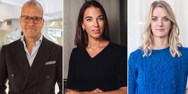 Sparekonomerna Joakim Bornold, Johanna Kull och Maria Landeborn.  TT