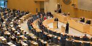 Arkivbild: Riksdagens plenisal. Fredrik Sandberg/TT / TT NYHETSBYRÅN
