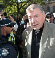 Kardinalen George Pell utanför rätten i Melbourne igår. STRINGER / TT NYHETSBYRÅN