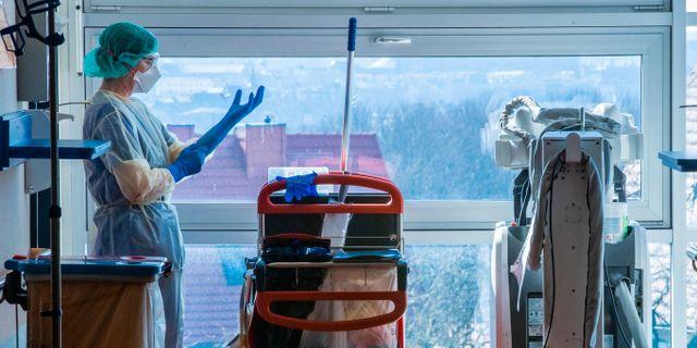 Sjukvårdare i Tyskland. Jens Buettner / TT NYHETSBYRÅN