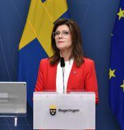 Arbetsmarknadsminister Eva Nordmark (S).  Henrik Montgomery/TT / TT NYHETSBYRÅN