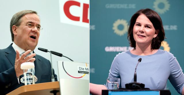 Armin Laschet och Annalena Baerbock TT