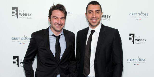 Arkivbild: Tindergrundarna Jonathan Badeen till vänster och Sean Rad till höger.   Andy Kropa / TT NYHETSBYRÅN