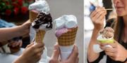 Värmen har lett till att många har ätit glass.  TT