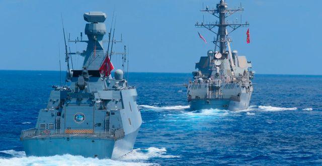Turkisk militärövning tillsammans med USA tidigare i veckan.  TT NYHETSBYRÅN