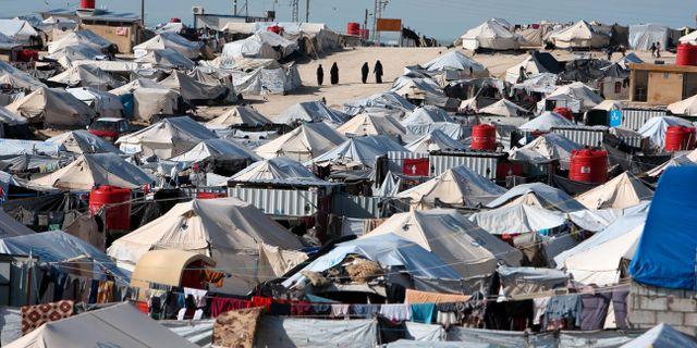 Flyktinglägret Al-Hol. ALI HASHISHO / TT NYHETSBYRÅN