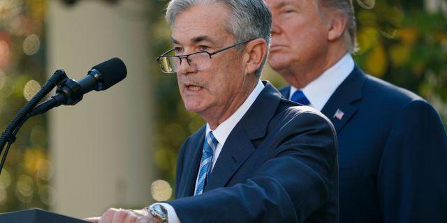 Powell och Trump vid utnämningen i november 2017. Pablo Martinez Monsivais / TT NYHETSBYRÅN