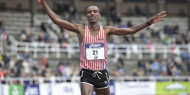 Mustafa Mohamed, arkivbild från Stockholm Maraton. Pontus Lundahl/TT / TT NYHETSBYRÅN