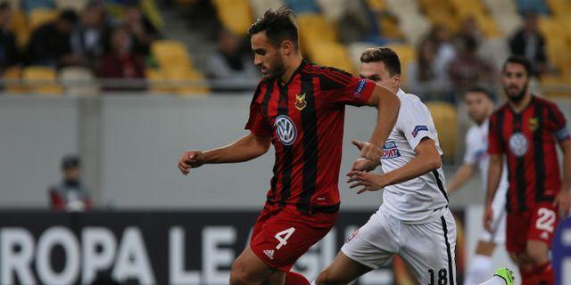 Sotirios Papagiannopoulos under en tidigare EL-match. Yevheniy Kravs / TT / NTB Scanpix