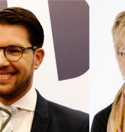 Jimmie Åkesson och Lena Mellin. TT