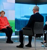 Angela Merkel intervjuades i ZDF. John MacDougall / TT NYHETSBYRÅN