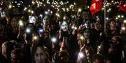 Manifestation för mördade jorunalisten Daphne Caruana Galizia i Valetta, Malta. STRINGER / AFP