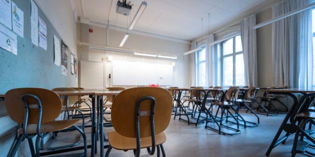 Tomt klassrum på gymnasieskola. Illustrationsbild. Stina Stjernkvist/TT / TT NYHETSBYRÅN