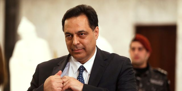 Libanons premiärminister Hassan Diab. MOHAMED AZAKIR / TT NYHETSBYRÅN