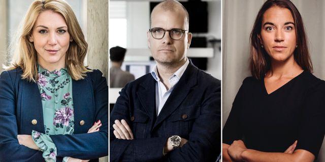 Sparekonomtrion Frida Bratt, Joakim Bornold och Johanna Kull.