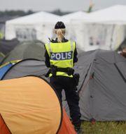 Arkivbild/Polis på festival.  Izabelle Nordfjell/TT / TT NYHETSBYRÅN