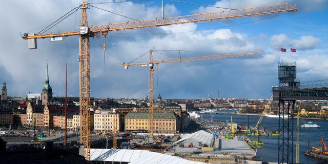 Vy från ett hus ovanför Slussen på Södermalm mot Slussen, guldbron och Gamla stan. Illustrationsbild.  Henrik Montgomery/TT / TT NYHETSBYRÅN