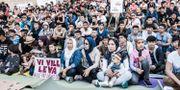 Ensamkommande asylsökanden vid en manifestation på Medborgarplatsen 2017. Lars Pehrson/SvD/TT / TT NYHETSBYRÅN