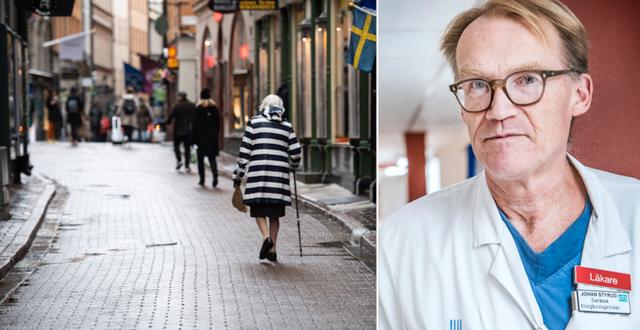 Äldre kvinna i Gamla Stan i Stockholm/Johan Styrud, överläkare på Danderyds sjukhus. TT