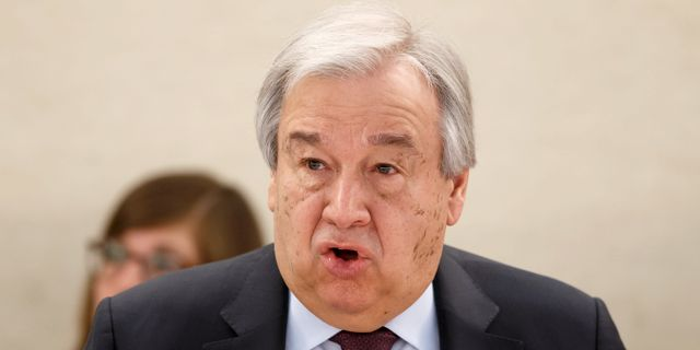 António Guterres Salvatore Di Nolfi / TT NYHETSBYRÅN