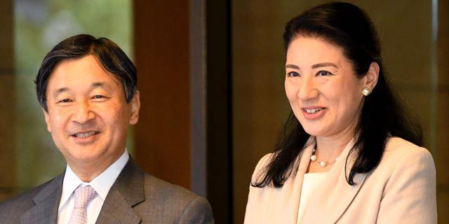 Naruhito och hustrun Masako. TOSHIFUMI KITAMURA / POOL