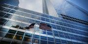 USA:s flagga utanför Goldman Sachs kontor på Manhattan. SPENCER PLATT / GETTY IMAGES NORTH AMERICA