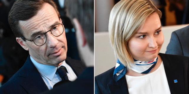 Moderaternas partiledare Ulf Kristersson och Kristdemokraternas dito Ebba Busch Thor inför dagens omröstning. TT