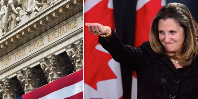 Kanadas utrikesminister Chrystia Freeland. TT.